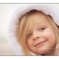 Winter, Furry hood, Children's picture