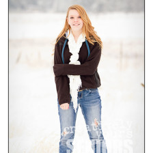Glamorous in the Snow Senior pictures