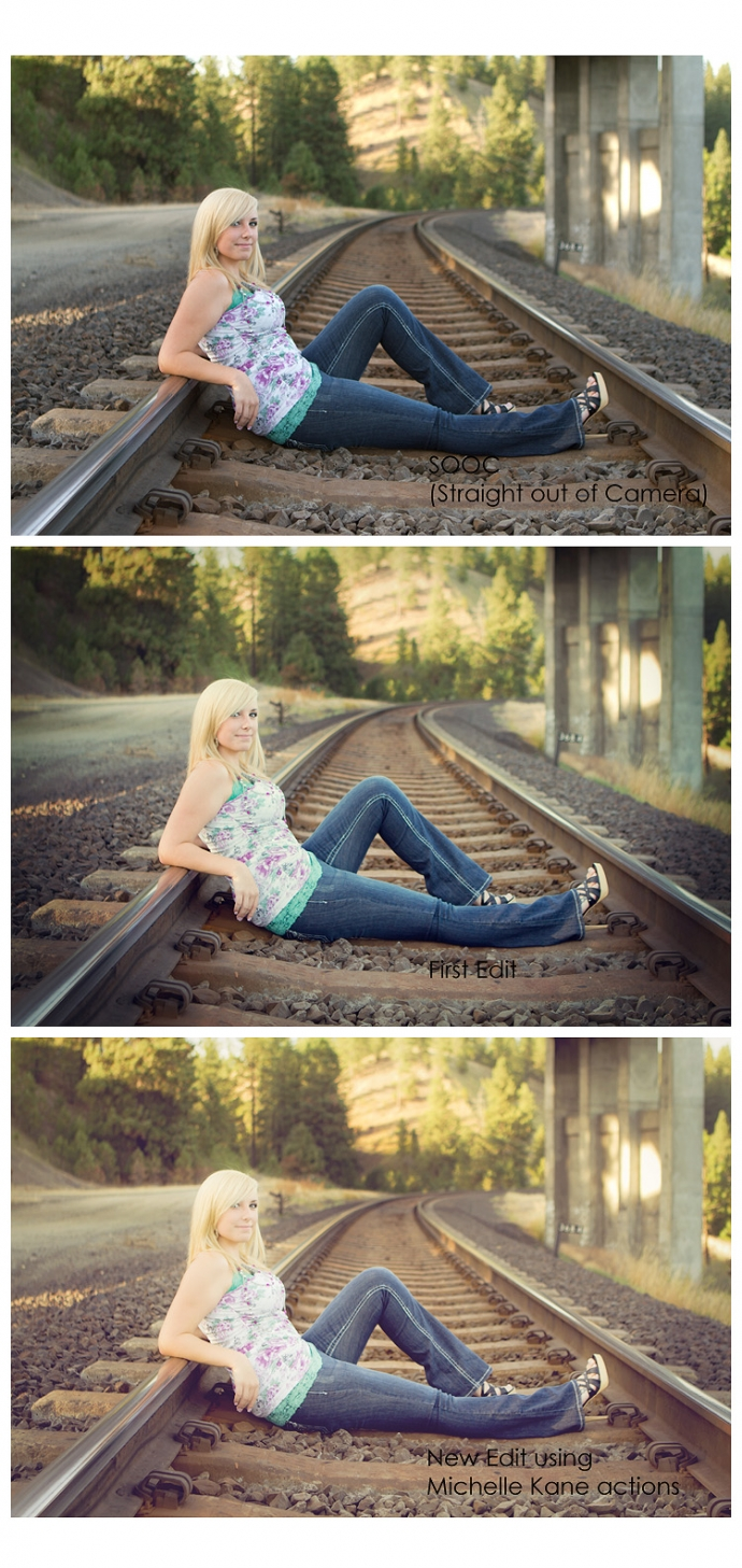 Senior Girl on the Railroad Tracks