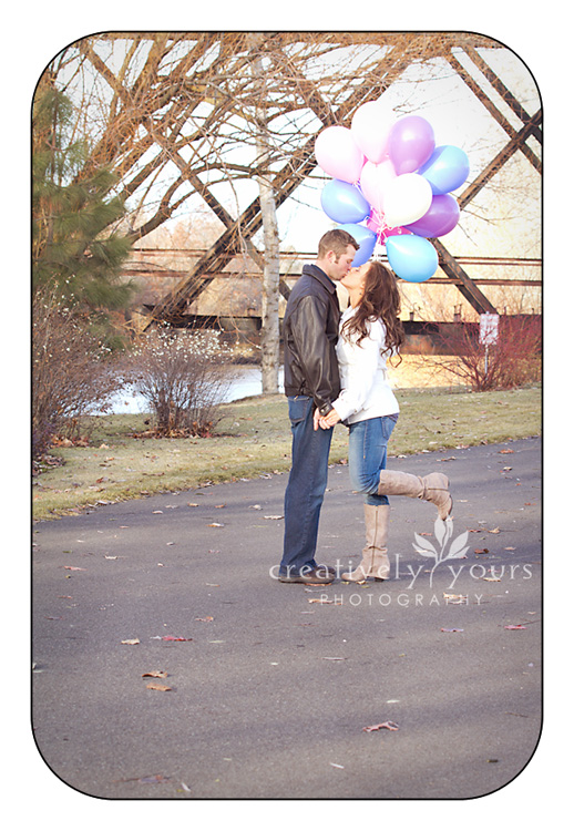 Gonzaga District Engagement shoot with balloons