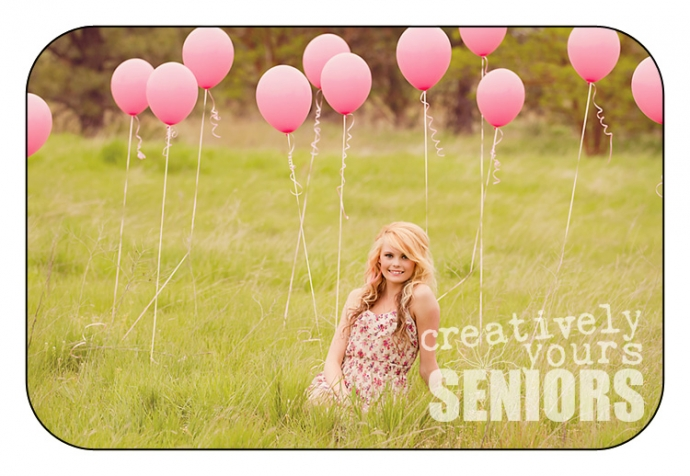 Senior Girls with Balloons in Cheney WA
