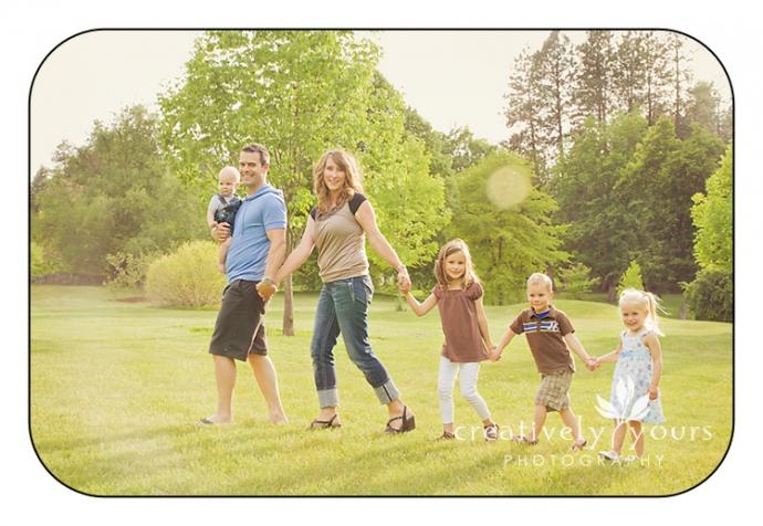 Cute Family Pictures in Spokane WA