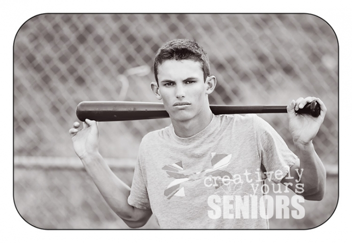 Senior Guy Baseball Picture in Spokane WA