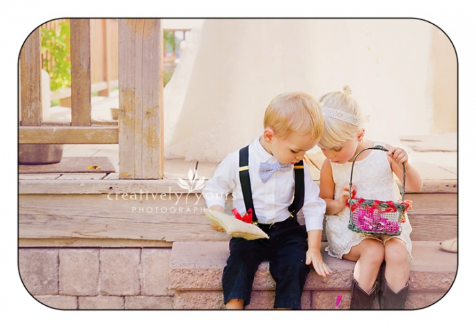 Adorable Flower Girl and Ring Bearer in Spokane WA
