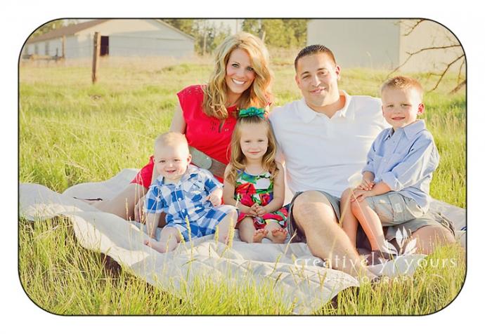 Family in a field in Spokane WA
