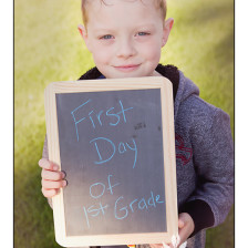 Fun Chalkboard Back to School Pictures in Spokane WA