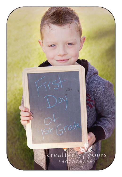Fun Chalkboard Back to School Pictures in Spokane WA