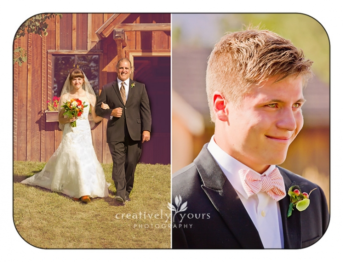 First Look at Kettle Falls WA Wedding