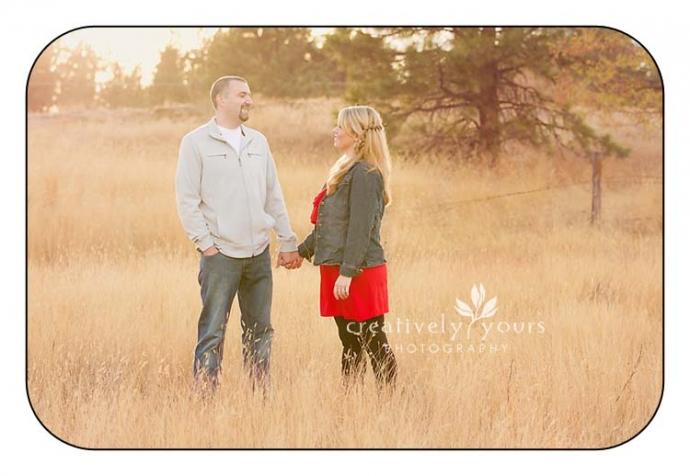 Beautiful Couple Pictures in a field in Spokane WA