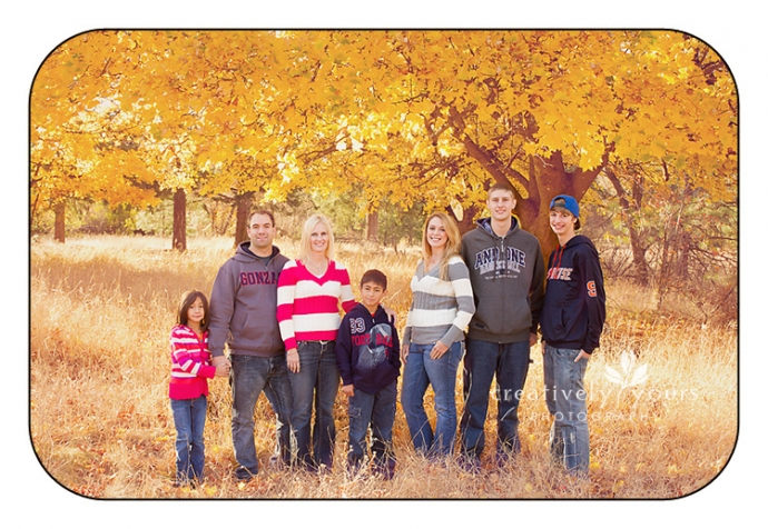 Fall Family Pictures in Spokane WA