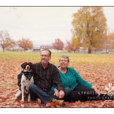 Beautiful Fall Images with couple and dog by Creatively Yours Photography