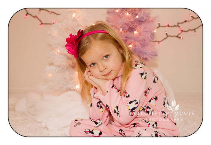 Sweet Girl in Christmas Photos in Spokane WA