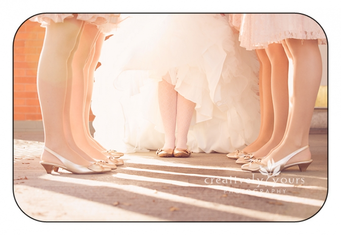 Bride and Bridesmaids shoes picture