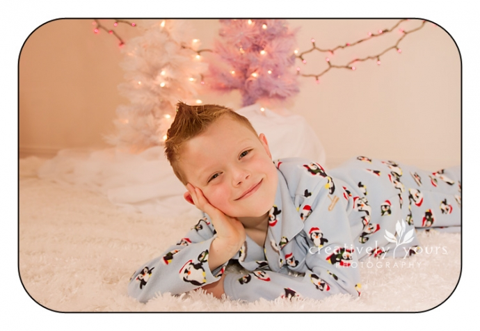 Christmas pajama pictures in Spokane WA
