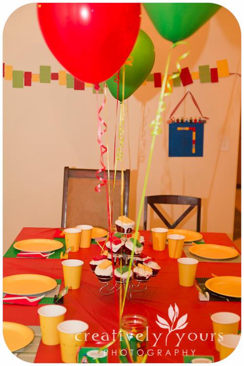 Lego Birthday Party Table Decor in Spokane WA