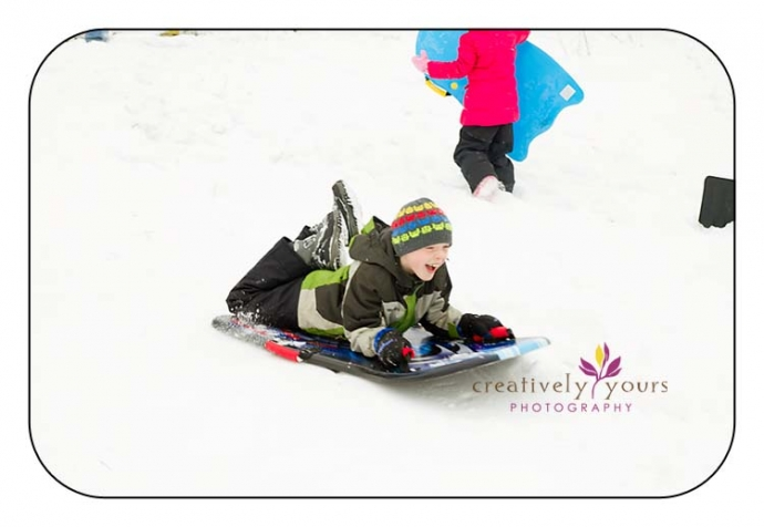 Sledding Pictures in Cheney WA