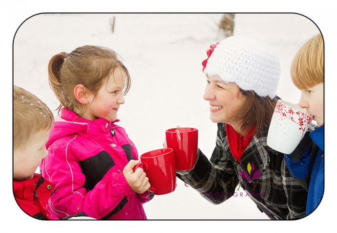 Fun pictures with hot chocolate in Spokane WA
