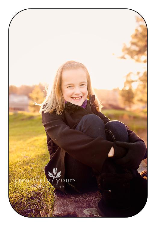 Little Girl in beautiful light in Spokane WA