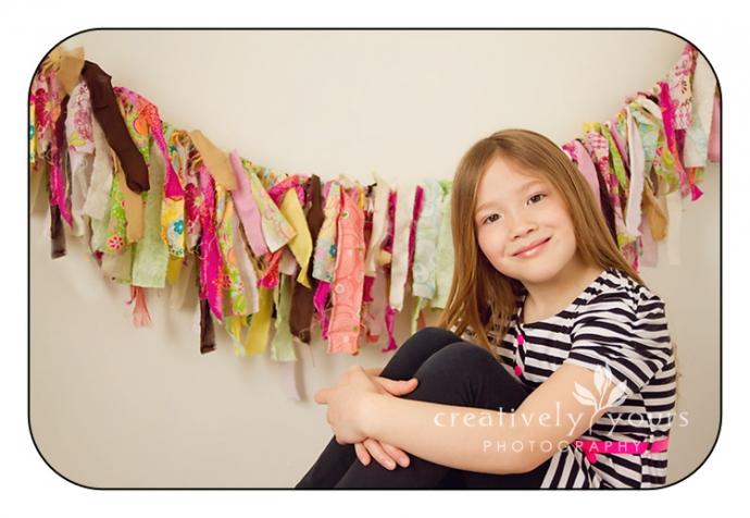 Adorable Little Girl Picture in Spokane WA Studio