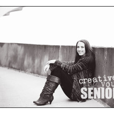 Urban Black and White senior pictures