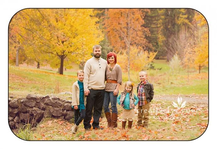 Gorgeous Fall Family Photos in Spokane WA