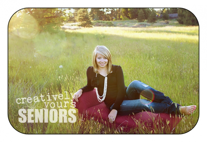 Beautiful senior pictures done in a field
