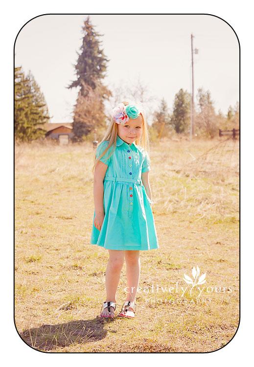 Beautiful little girl pictures in Spokane WA
