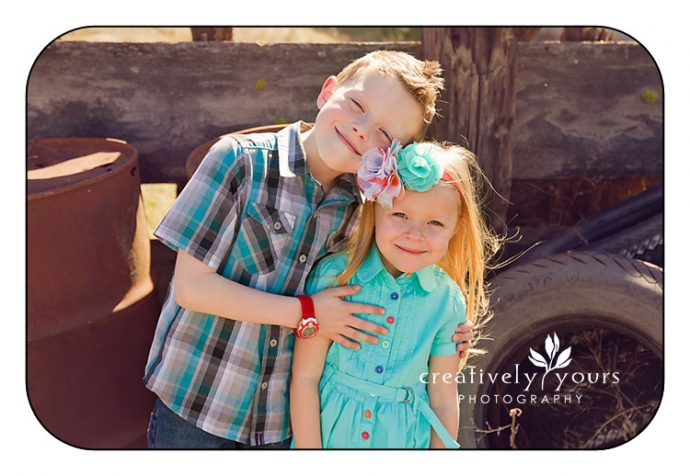 Gorgeous brother and sister shot by Creatively Yours Photography