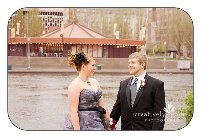 Prom Pictures in Spokane WA with the Carousel in the background