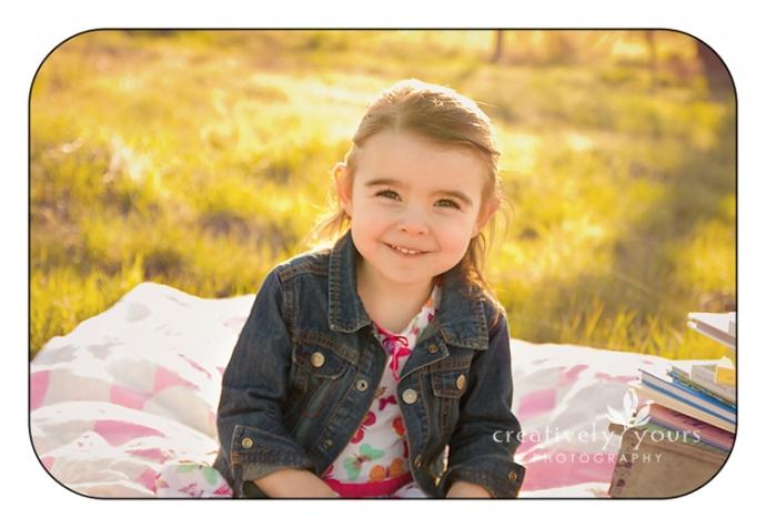 Beautiful Little Girl in a field in Spokane WA