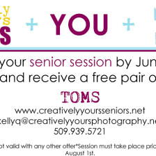 Get a free pair of TOMS when you book your Class of 2014 senior pictures
