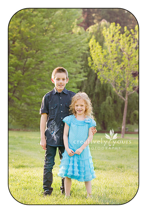 Beautiful brother and sister pictures in Spokane WA