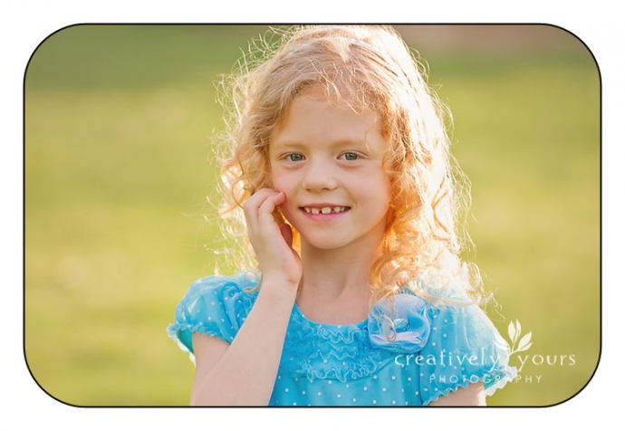 Portrait of a gorgeous little girl in a park in Spokane WA