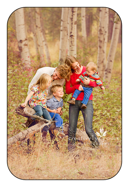 Fun lifestyle family photos in Spokane by Creatively Yours