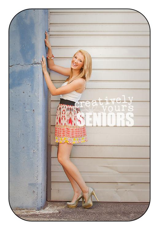 Fashion senior pictures in downtown Spokane WA