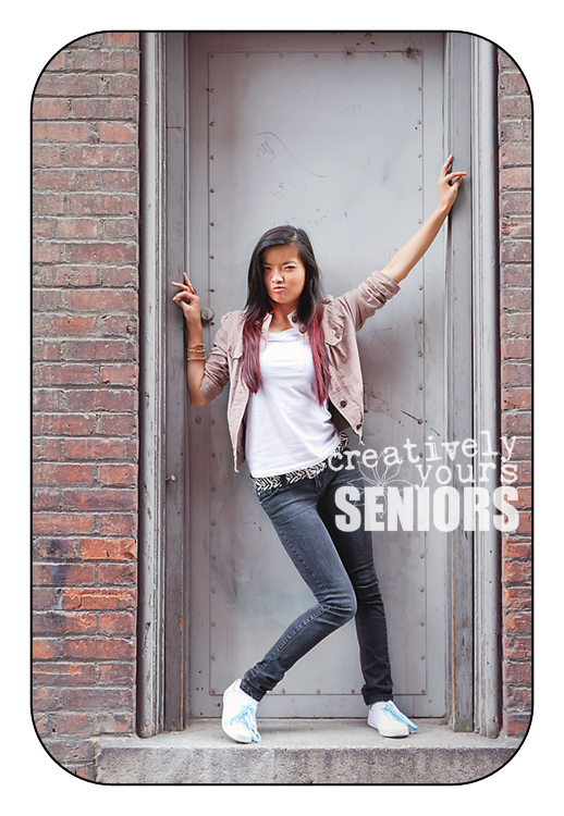 Senior Pictures in Spokane alleyway by Creatively Yours