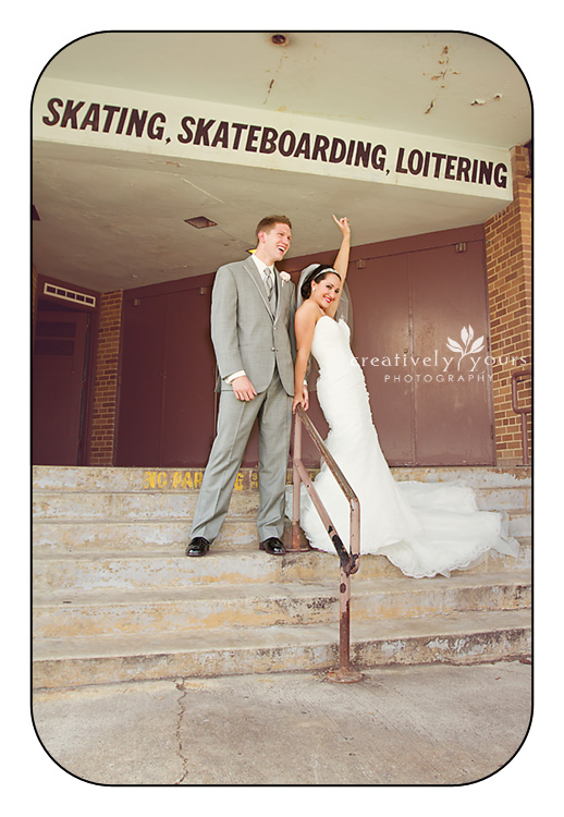 Fun, Urban Wedding Photos in Spokane WA by Creatively Yours