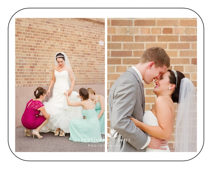 Bride and Groom First Look pictures in Spokane WA by Creatively Yours
