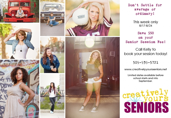 Special offer on Senior Pictures for the Class of 2014