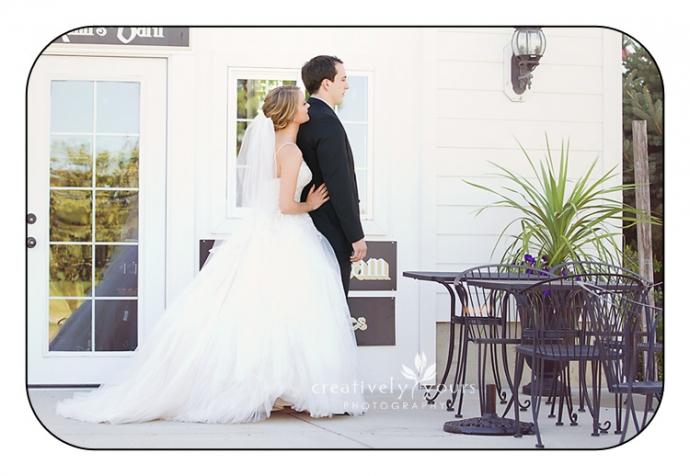 First Look Photo at Spokane WA Wedding