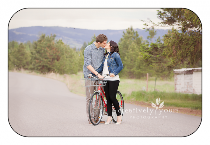 Gorgeous Romantic Photo of Engaged Couple in Spokane WA by Creatively Yours
