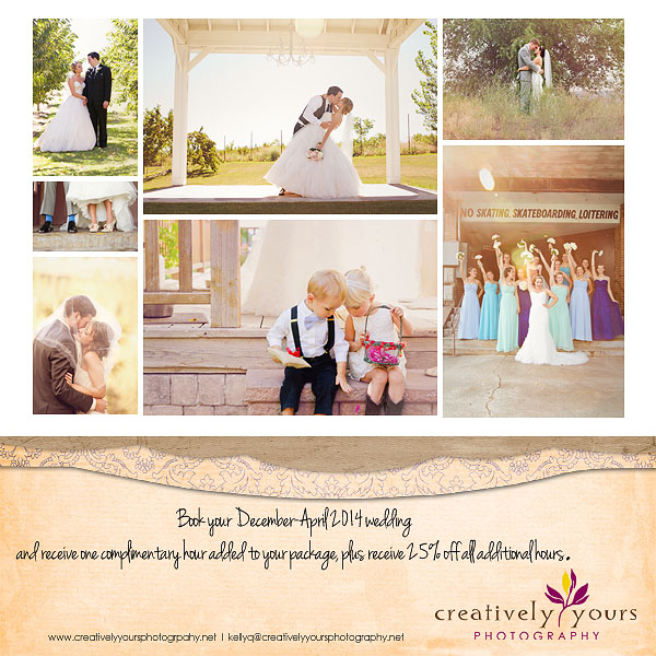Wedding Special for Spokane WA December-April weddings