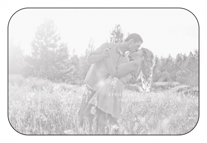Gorgeous black and white engagement photo in Spokane by Creatively Yours Photography