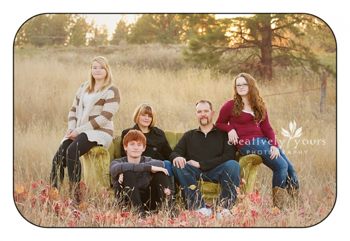 Gorgeous family photos in a field by Spokane photographer, Creatively Yours