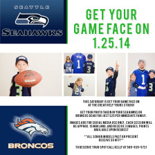Spokane Photographer offers local photo sessions in your Super Bowl team clothing