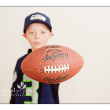 Elementary School Boy with Football picture by Spokane Photographer, Creatively Yours