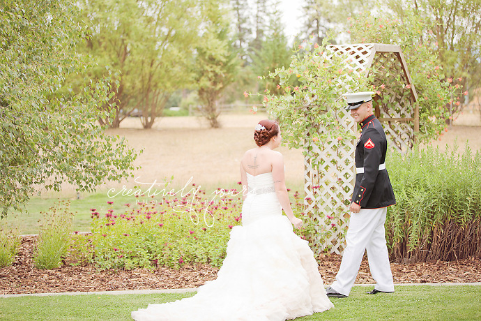 Spokane Military Wedding Photos