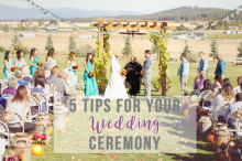 5 tips for your wedding ceremony
