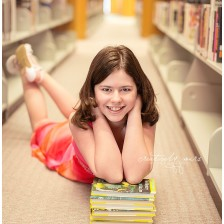 Spokane Tween Photography by Creatively Yours Photography in the downtown Spokane library.