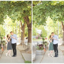 Spokane Engagement photos by Creatively Yours Photography at the South Hill's The Scoop ice cream shop.